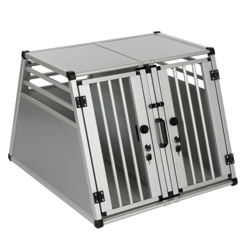 Cage de transport double AluRide pour chien