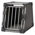 Cage de transport Trixie en aluminium pour chien, gris foncé