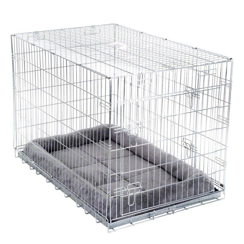 Cage d'intérieur Double Door avec coussin pour chien