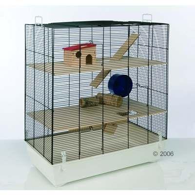 Cage Skyline Fun Area Leon version blanche pour hamster, gerbille et souris