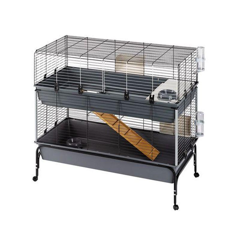 Cage Vital 120 à 2 niveaux pour lapin et rongeur