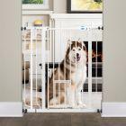 Cancelletto Carlson Pet Gate extra alto con mini porta per gatti