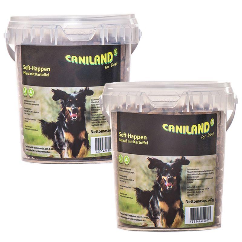 Caniland Soft -herkkupaketti: strutsi & hevonen