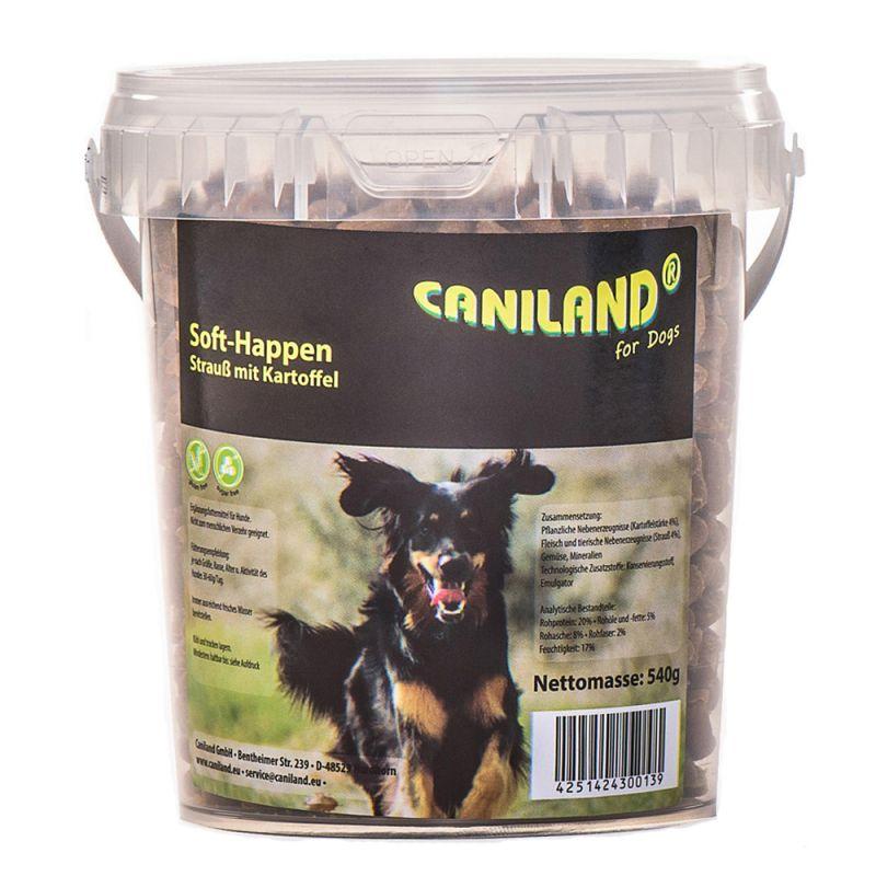 Caniland Soft, kawałki mięsa strusia bez zbóż (półwilgotne)