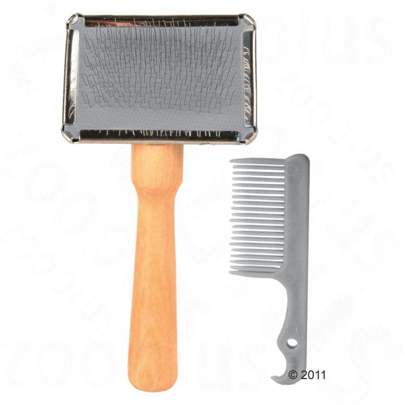 Carda y peine limpiador