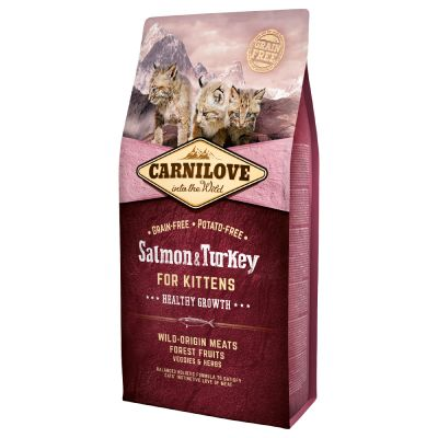 Carnilove Healthy Growth pour chaton, saumon & dinde