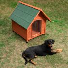 Casota de madeira Spike Comfort com porta para cães