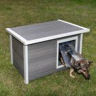 Casota Kerbl ecoFLEX® com teto plano para cães