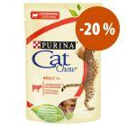 Cat Chow comida húmida 26 x 85 g para gatos a preço especial!