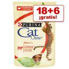 Cat Chow 24 x 85 g comida húmeda para gatos en oferta: 18 + 6 ¡gratis!
