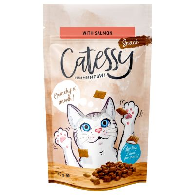 Catessy Crunchy Snacks with Salmon, Vitamins & Omega-3