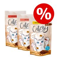 Catessy snacks crujientes 3 x 65 g - Pack Ahorro
