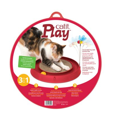 Catit Play-N-Scratch – 3 in 1 -kissanlelu raapimisalustalla
