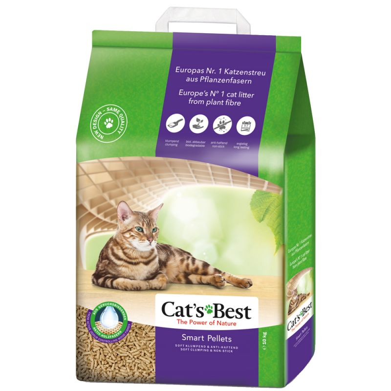 Cat's Best Smart Pellets areia aglomerante ecológica