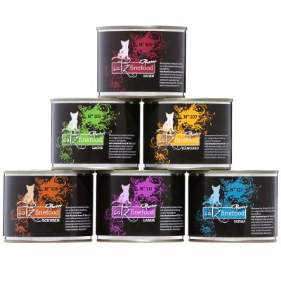 catz finefood Purrrr Can Mixed Trial Pack 6 x 190/200g