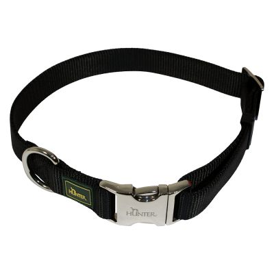 Collar HUNTER Vario-Basic Alu-Strong negro para perros
