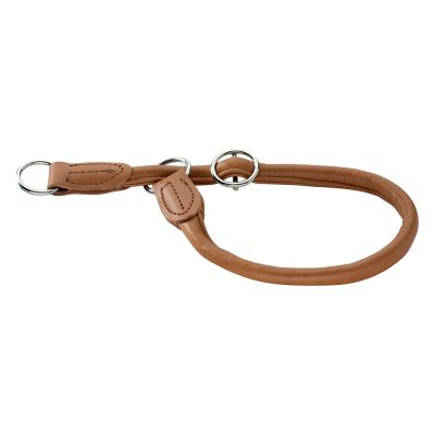 Collare Hunter in pelle di alce Round & Soft Cognac