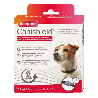 Collier antiparasitaire beaphar Canishield pour chien