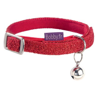 Collier Bobby Disco, rouge pour chat