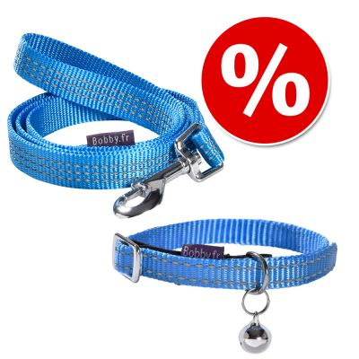Collier Bobby Safe, bleu pour chat