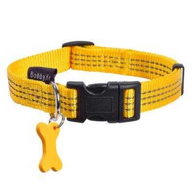 collier pour chien vert jaune rouge