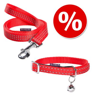 Collier Bobby Safe, rouge pour chat