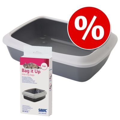 Combi Deal: Savic Kattenbak Iriz - 50 cm + Savic Bag it Up Litter Tray Bags