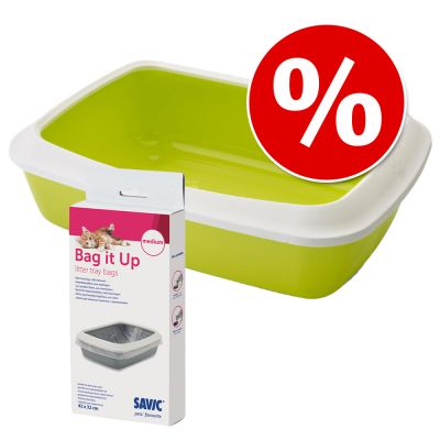 Combi Deal: Savic Kattenbak Iriz - 42 cm + Savic Bag it Up Litter Tray Bags