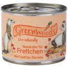 Comida húmeda Greenwoods para hurones
