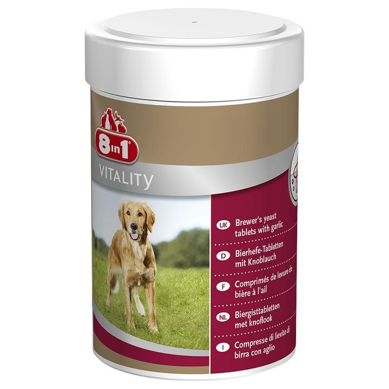 Comprimés 8in1 Vitality à la levure de bière pour chien