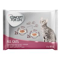 Concept for Life All Cats -kokeilupakkaus 4 x 85 g