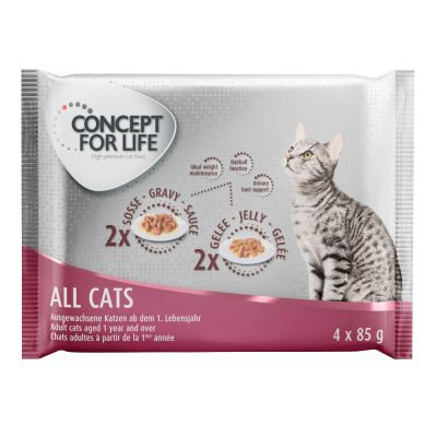 Concept for Life All Cats пробна опаковка - 4 x 85 г