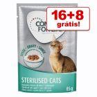 Concept for Life comida húmida 24 x 85 g em promoção: 16 + 8 grátis!