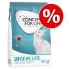Concept for Life 400 g ração para gatos a um preço especial!
