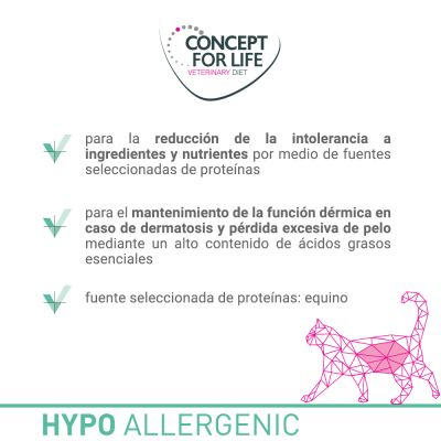 Concept for Life Hypoallergenic Veterinary Diet con caballo para gatos