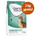 Concept for Life 9/10 kg en oferta: hasta 2 kg ¡gratis!