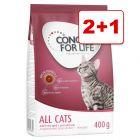 Concept for Life kissanruoka 3 x 400 g: 2 + 1 kaupan päälle!