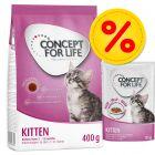 Concept for Life Kitten-mix: kuivaruoka  400 g + märkäruoka 12 x 85 g