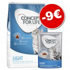 Concept for Life Light Adult 3 kg + sachets 12 x 85 g : 9 € de remise !