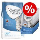 Concept for Life Light Adult pienso + comida húmeda ¡con descuento!