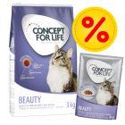 Concept for Life -mix: kuivaruoka 3 kg + in Gravy 24 x 85 g