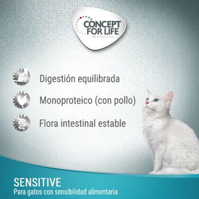 Concept for Life Sensitive pasta para gatos