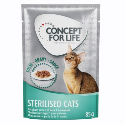 Concept for Life Sterilised Cats en sauce