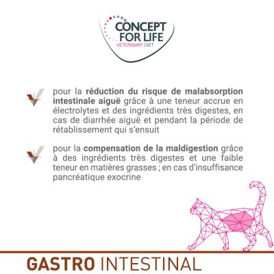 Concept for Life Veterinary Diet Gastro Intestinal pour chat