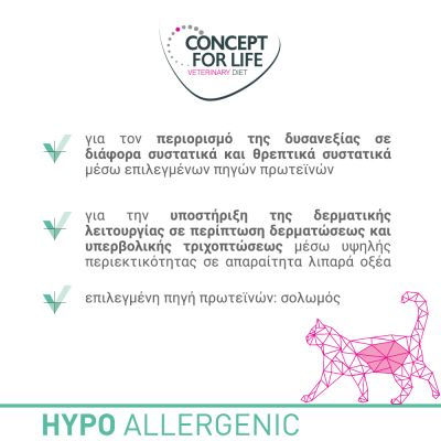 Concept for Life Veterinary Diet Hypoallergenic Σολομός Υγρή Γάτες