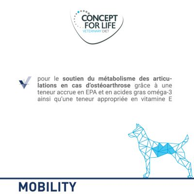 Concept for Life Veterinary Diet Mobility pour chien