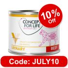 Concept for Life Veterinary Diet Urinary - Beef