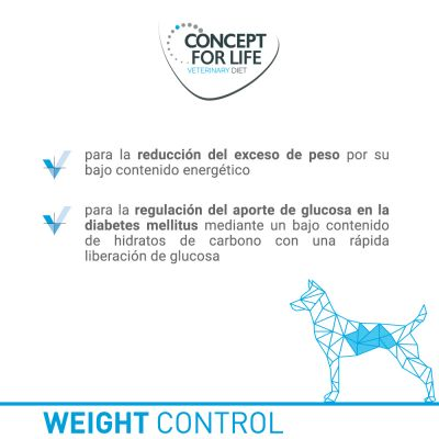 Concept for Life Veterinary Diet Weight Control para perros ¡con descuento!