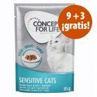Concept for Life 12 x 85 g en oferta: 9 + 3 ¡gratis!