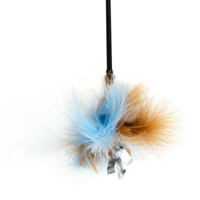 Cool Blue Feather Wand